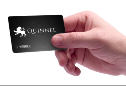 Black card and hand