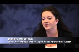 Bridges Insights 2013: Jennifer McFarland Senior Accounting Manager, Supply Chain, Abercrombie Fitch 3