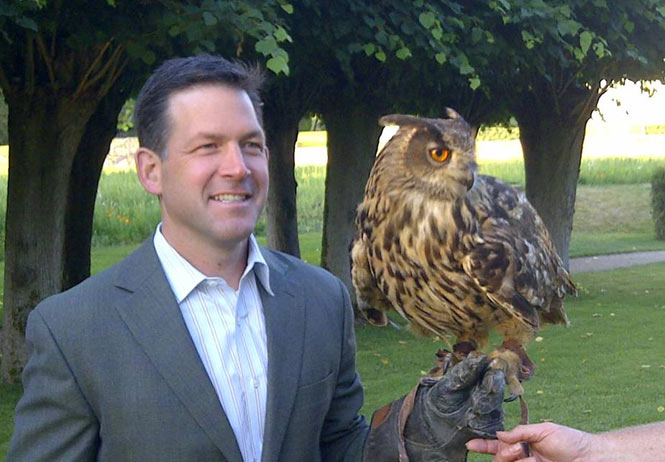 Jay with owl