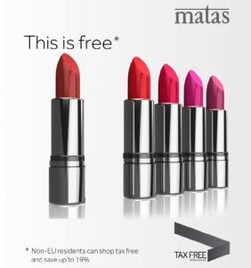Tax Free lipsticks