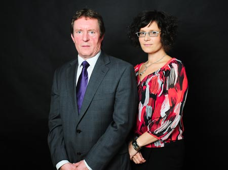David Johnstone and  Nicola Klimkowski