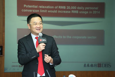 Chris Leung, Executive Director and Senior Economist of Group Research, DBS Bank (Hong Kong) Limited said without policy catalysts, positive economic outlook alone is insufficient to further incentivise RMB usage among Hong Kong companies