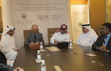 Barwa bank partners with qatar financial business academy