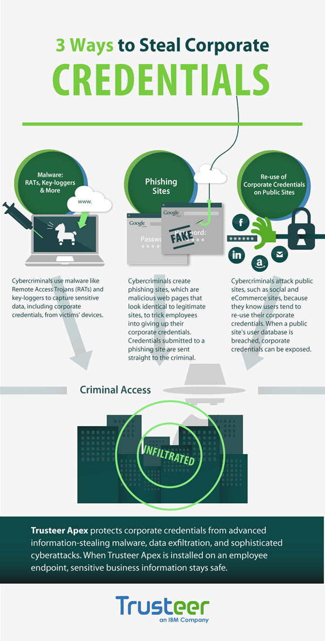 Trusteer Credentials Theft infographic