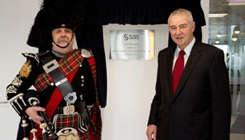 SAS CEO, Dr Jim Goodnight, personally opens the new Fraud R&D centre in Glasgow