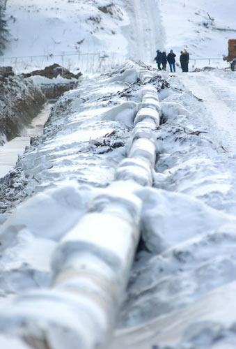 Winter Pipeline Construction
