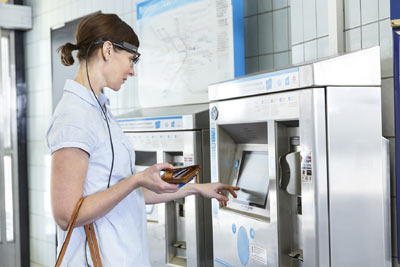 Wearable Eye Tracking Ticket  Machine Tobii