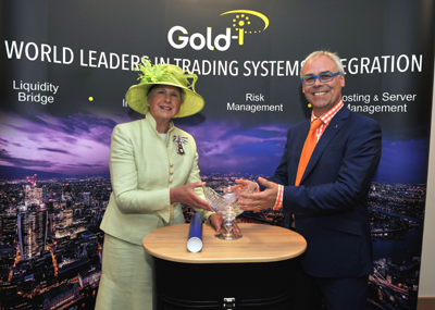 Lord-Lieutenant of Surrey, Dame Sarah Goad with Tom Higgins, CEO of Gold-i