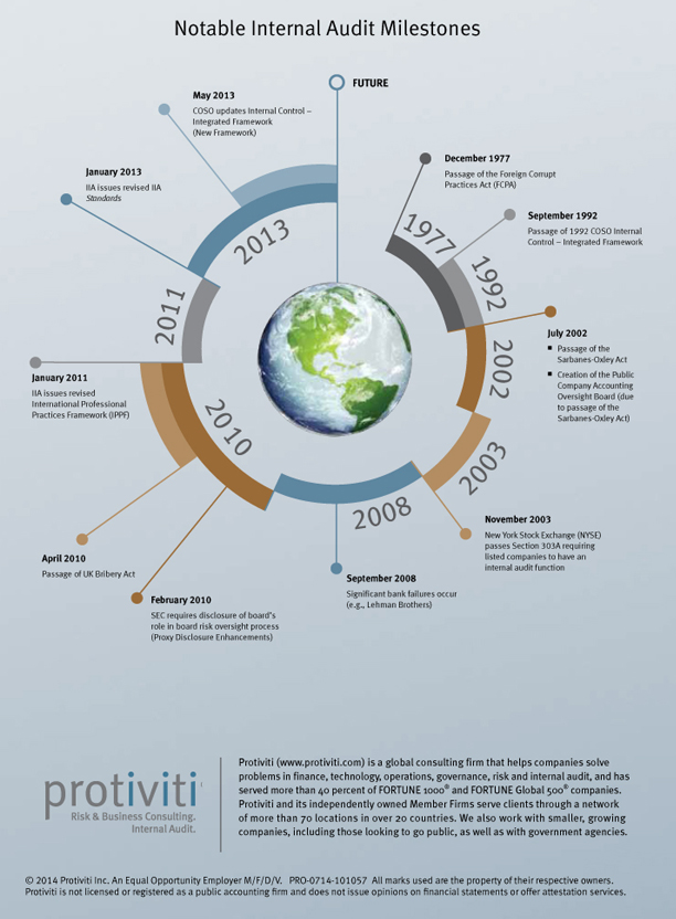 IA Around the World 2014 - Protiviti Infographic