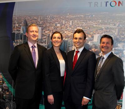 Triton promotions LtoR Steve Oates, Joanne Staphnill, Grant Walker, Kevin Salt.