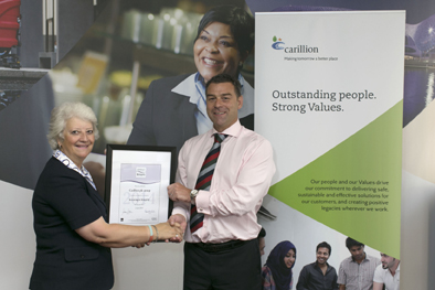 CARILLION PLC Awarded The Investing In Integrity Charter Mark