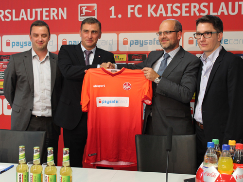 CEO Udo Mueller with Kaiserslautern's Chairman Stefan Kuntz