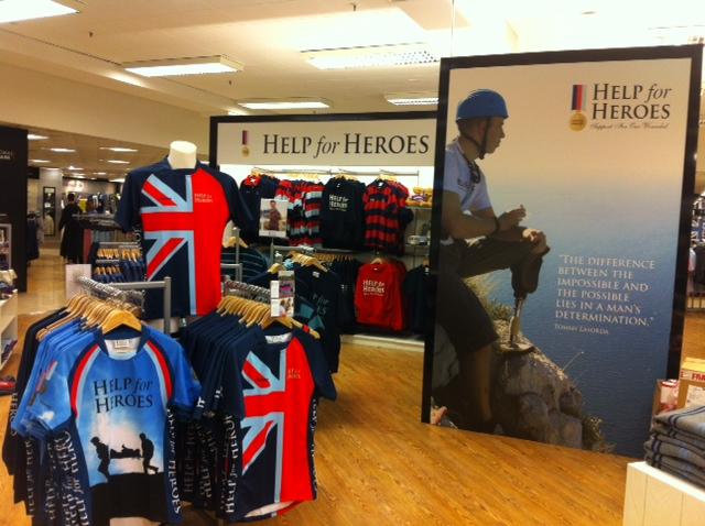 Help for Heroes Debenhams Southampton