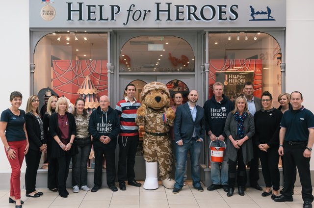 Help for Heroes Lakeside shopfront credit TomOLearyPhotography