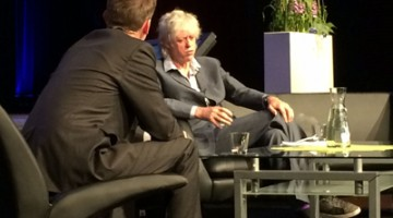 Bob Geldof gives speech