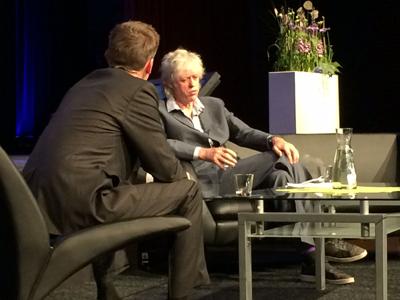 Bob Geldof gives speech