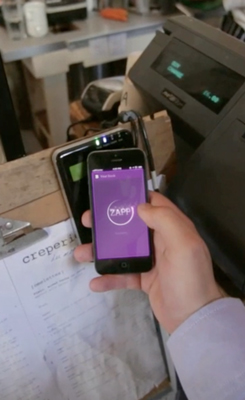 Zapp 09 - Zapp in action - NFC payment at coffee shop