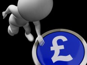 STERLING FALLS AMID SCOTTISH INDEPENDENCE POLL.