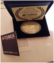 0.5BTC Coin in presentation box