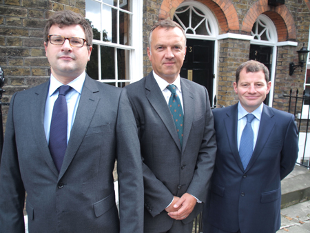 Photo Caption: From left to right, Charles Gorman, Robert Bailhache, and Nick Henderson.