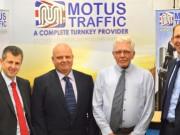 L – R Andy Ryder (Shorts Chartered Accountants), Iain McDonald and Jim Booth (Motus Traffic), Steve Wicks (Yorkshire Bank)