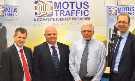 L – R Andy Ryder (Shorts Chartered Accountants), Iain McDonald and Jim Booth (Motus Traffic), Steve Wicks (Yorkshire Bank)