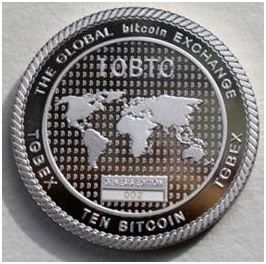 Solid Silver 10BTC coin