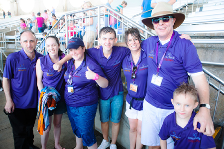 Volunteers at SeaWorld during the 2013 Destination Dreams programme.