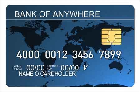 nx credit card blue metallic