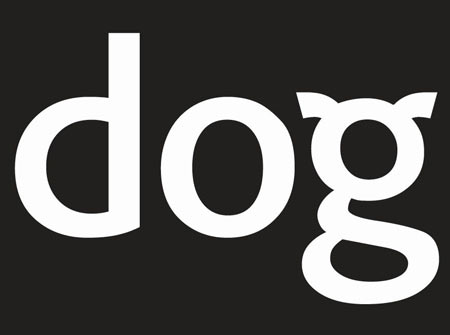 dog logo black