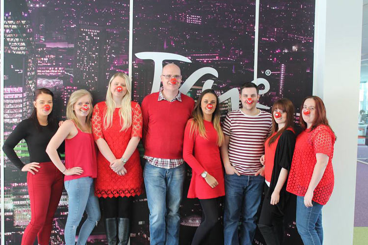TRUE TELECOM Staff Raises A Total Of £1000 For RED NOSE DAY 2015