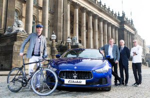 The launch of Maserati Cycling Leeds Town Hall David Millar Gary Verity ...