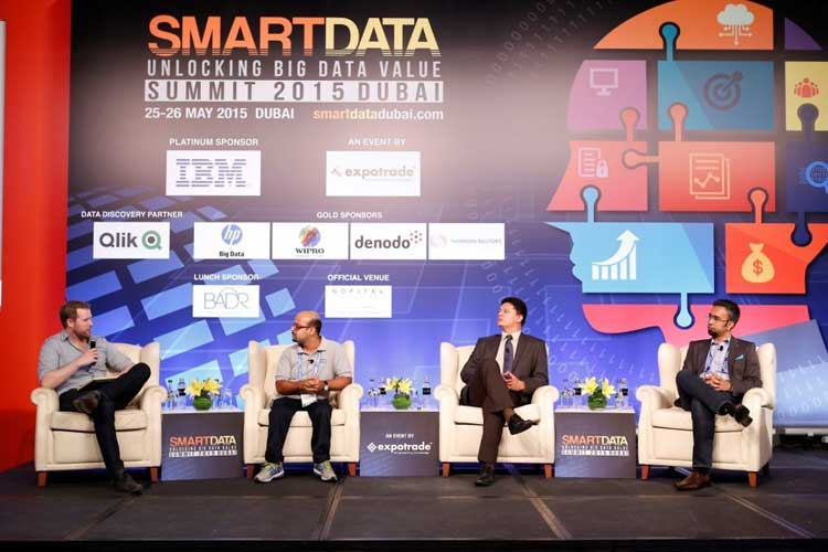 Panel discussion in progress at Smart Data Summit 2015
