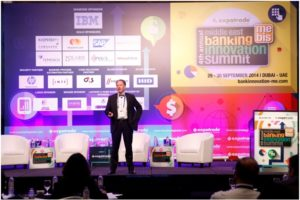 Keynote session in progress at the Middle East Banking Innovation Summit 2014