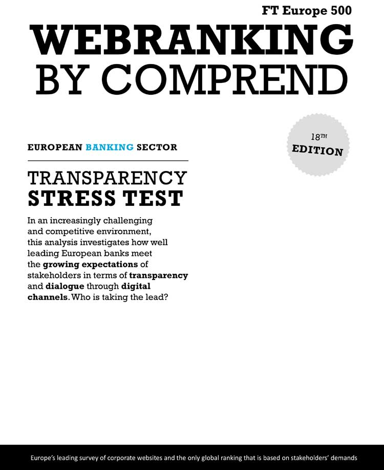 EUROPEAN BANKING COMMUNICATIONS STRESS TEST – A CALL FOR MORE TRANSPARENCY