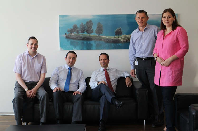Ilia Kolochenko, second from left, with PwC cyber security team