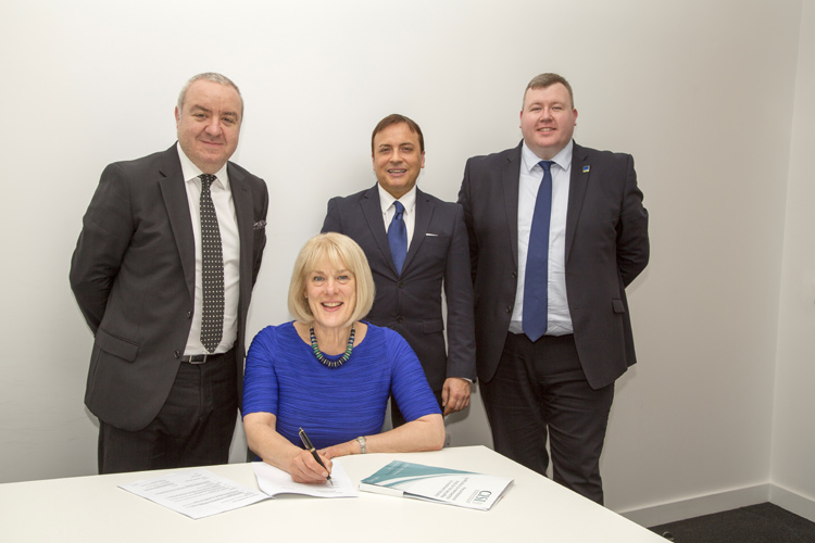 Mike Franco, LJMU- Anne Chisholm, CISI- Karl Roberts, LJMU- James Charlton, Tilney Bestinvest and Education Secretary & VP, CISI Liverpool & North Wales Committee