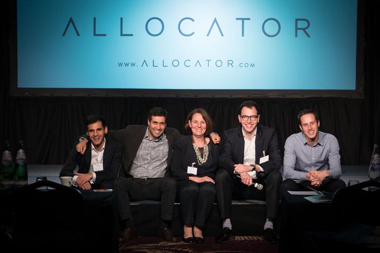 Allocator team, left to right: Nabdeep Chahal, David Tawil, Glenda Levin, Ryan Kalish, Yoni Amias.