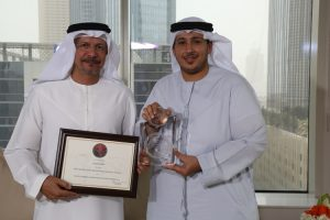 Hussain Al Qemzi, CEO Noor Bank (on the left) and Waleed Barhaji, Business Head of Consumer Finance, Noor Bank, at the headoffice in Dubai