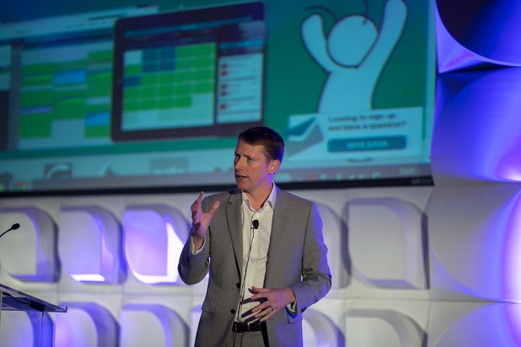 Glenn Shoosmith speaking at Digital-Banking 2015