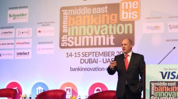 Speaker session in progress at the 5th Annual Middle East Banking Innovation Summit 2015