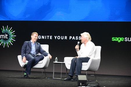 Stephen Kelly and Richard Branson