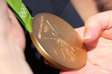 Paul Bennett's Olympic Gold Medal from the Rio 2016 Olympic Games