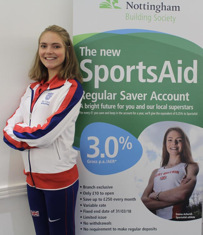 SportsAid athlete, Emma Achurch - the new poster girl for the SportsAid Regular Saver.