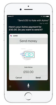 AZIMO PUSHES THE BUTTON ON VOICE-ACTIVATED MONEY TRANSFER THROUGH