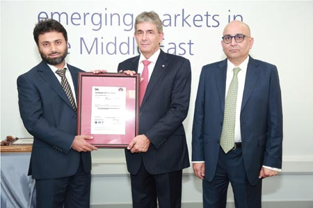 (from left to right) Basit Hussain, Middle East Leader BPS_ Theuns Kotze, Regional Managing Director, BSI Management Systems and Nauman Ahmed, Regional Tax Partner