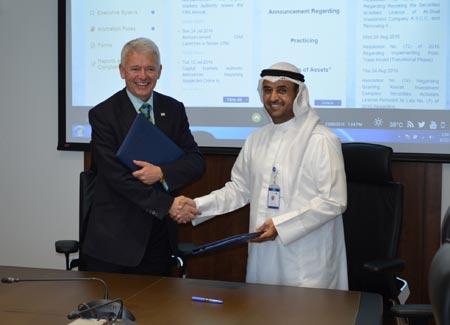Simon Culhane with Dr. Nayef Falah Al-Hajraf