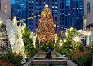 photo of christmas tree in new york city