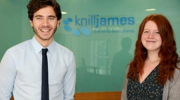 Zak Holdaway and Angharad Evans - Trainee ACA Accountants