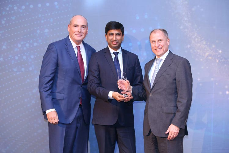 CFO Middle East Awards (far right Omar Fahoum, CEO, Deloitte Middle East - far left James Babb, partner and CFO program leader, Deloitte Middle East)